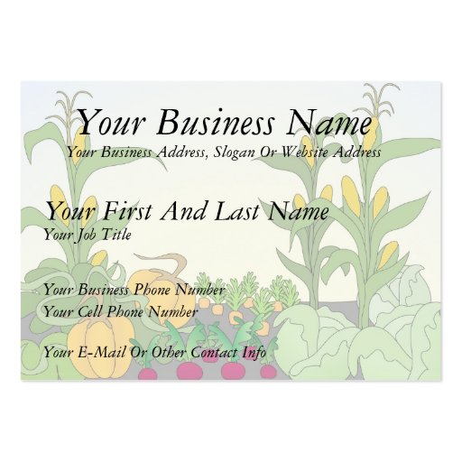 Vegetable Garden Large Business Cards (Pack Of 100)  Zazzle