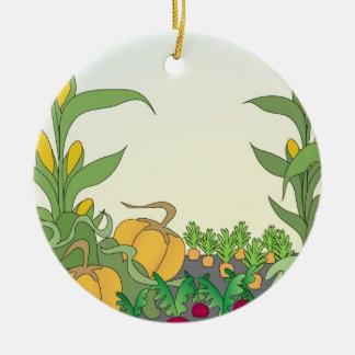 Vegetable Garden Ceramic Ornament