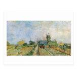 Vegetable Garden in Montmartre, Vincent van Gogh Postcard