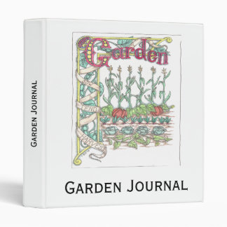 Vegetable Garden Journal Binder