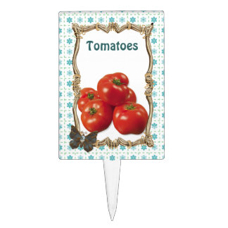 Vegetable Garden Plant Marker - Tomatoes Cake Topper