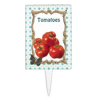 Vegetable Garden Plant Marker - Tomatoes Cake Topper