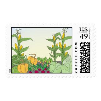 Vegetable Garden Postage Stamp