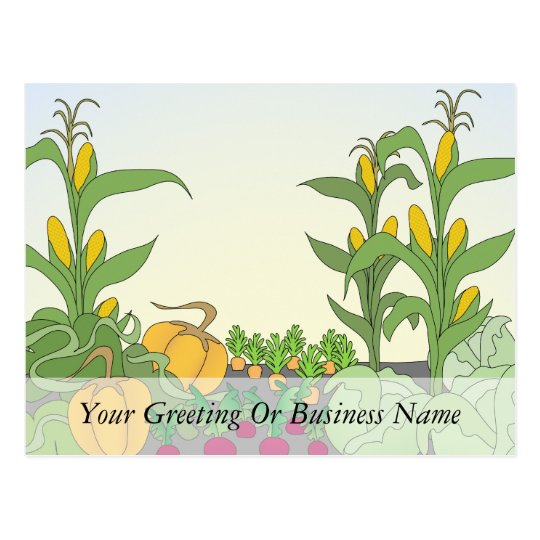 Vegetable Garden Postcard