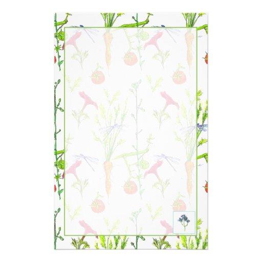 Vegetable Garden Stationery Paper Watercolor Art Zazzle
