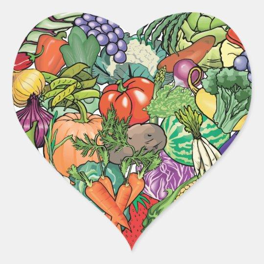 Vegetable Gardener Heart Sticker