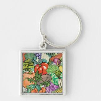 Vegetable Gardener Key Chain