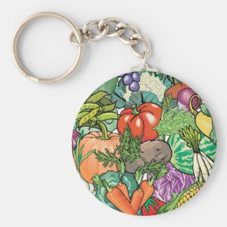 Vegetable Gardener Keychain