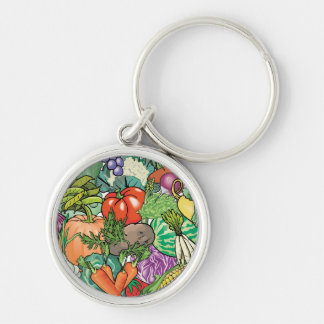 Vegetable Gardener Keychains