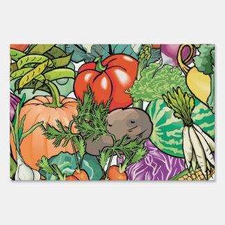 Vegetable Gardener Yard Sign