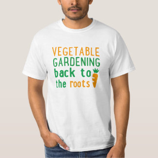 vegetable gardening bake ton the roots t-shirt