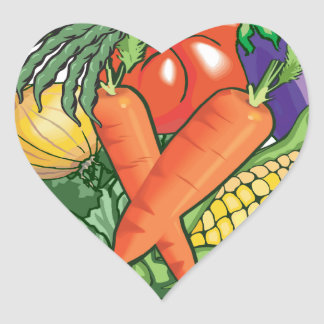 Vegetable Gardening Heart Sticker