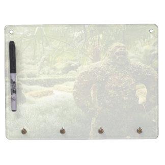 Vegetable gorilla dry erase board with keychain holder