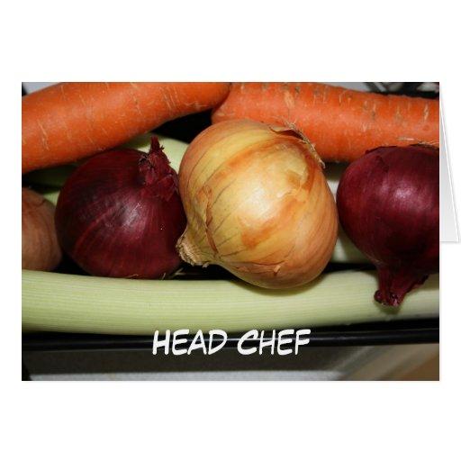 Vegetable Head Chef Card