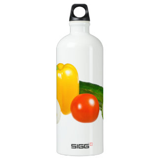 Vegetable isolated aluminum water bottle