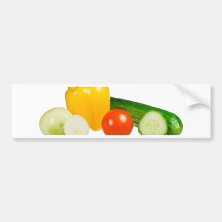 Vegetable isolated bumper sticker