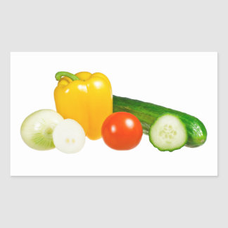 Vegetable isolated rectangular sticker