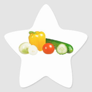 Vegetable isolated star sticker