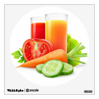 Vegetable juices wall sticker