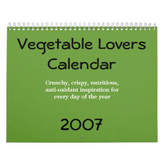 Vegetable Lovers Calendar