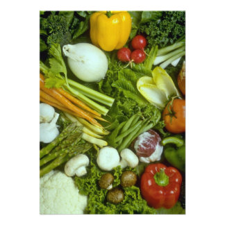Vegetable medley personalized invitation