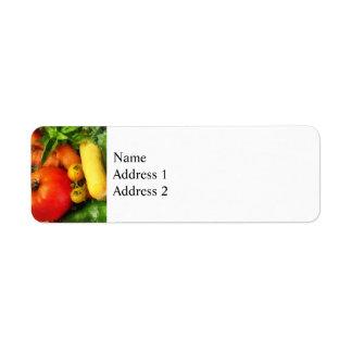Vegetable Medley Return Address Label