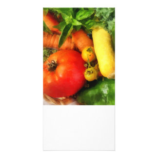 Vegetable Medley Custom Photo Card