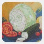 Vegetable Medley Square Sticker