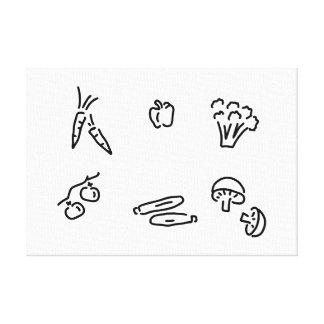 vegetable of mushrooms canvas print