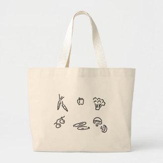 vegetable of mushrooms large tote bag
