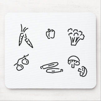 vegetable of mushrooms mouse pad