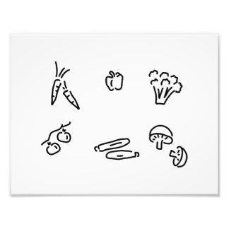 vegetable of mushrooms photo print