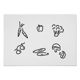 vegetable of mushrooms poster