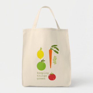 Vegetable Organic Reusable Grocery Tote Tote Bags