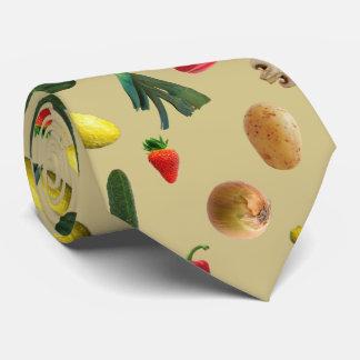 Vegetable Pattern Farmers Food Print Neck Tie
