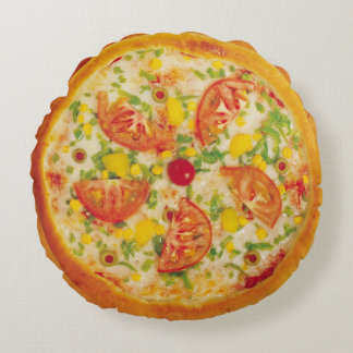 Vegetable Pizza Round Pillow