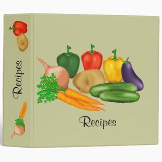 Vegetable Recipe Vinyl Binder