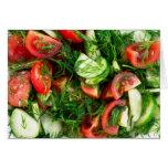 Vegetable salad card