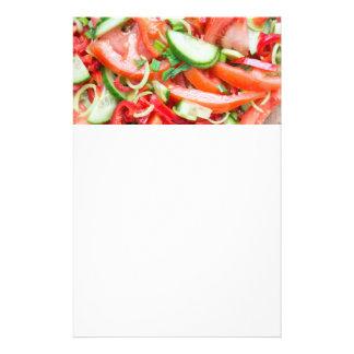 Vegetable salad flyer