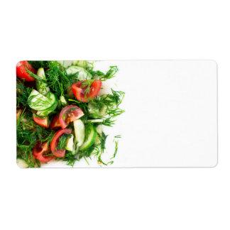 Vegetable salad label