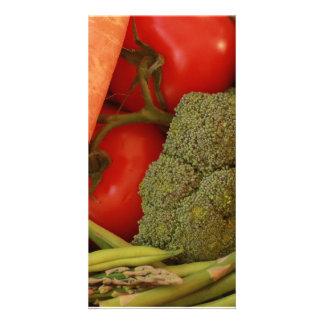 Vegetable Selection Photocard Card