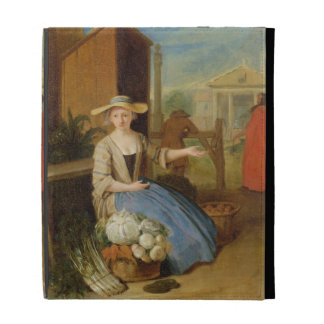 Vegetable Seller, Covent Garden, c.1726 (oil on pa iPad Folio Covers