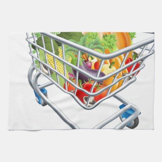 Vegetable Shopping Cart Trolley Towel