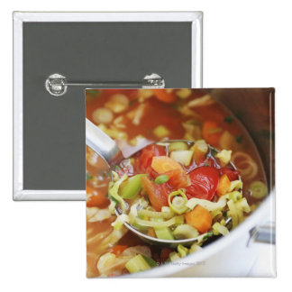 Vegetable soup in pan button
