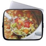 Vegetable soup in pan computer sleeves