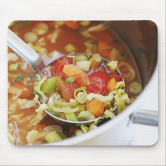 Vegetable soup in pan mouse pad