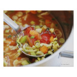 Vegetable soup in pan poster
