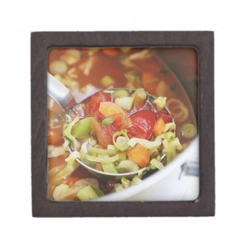 Vegetable soup in pan premium trinket box