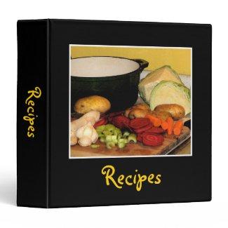 Vegetable Soup Recipes 3 Ring Binder