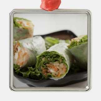 Vegetable Spring Rolls Metal Ornament